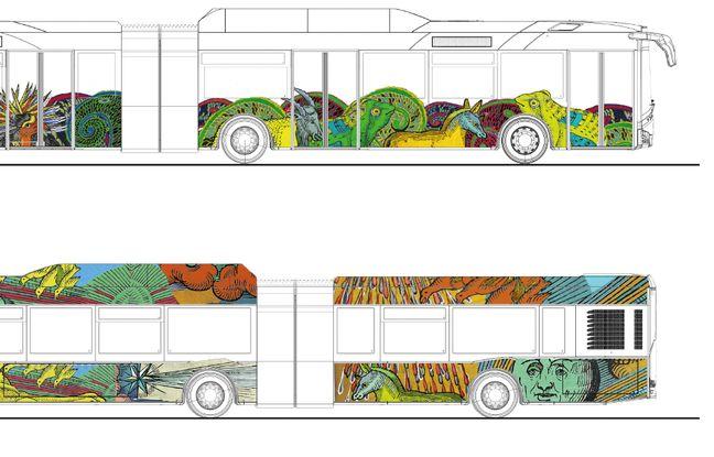 Strasbourg: nouvelle décoration des bus de la CTS