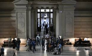 Le tribunal de Bruxelles lors du procès de Salah Abdeslam, le 23 avril 2018.