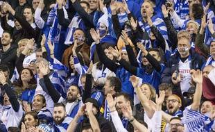 Des supporters grecs à Bruxelles le 25 mars dernier.