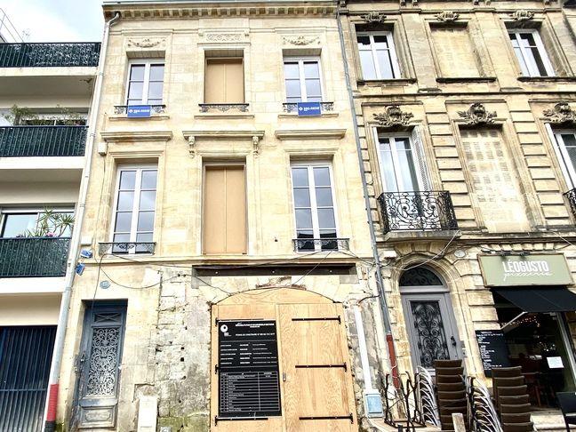 L'immeuble en rénovation de Philippe Etchebest, rue Rode dans le quartier des Chartrons à Bordeaux