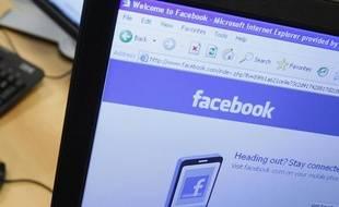 La page d'accueil de Facebook sur un écran d'ordinateur, le 21 avril 2010.