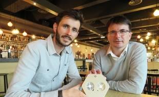 Thibaut Béguier et Tony Collet misent sur les odeurs pour améliorer la qualité de vie au travail.
