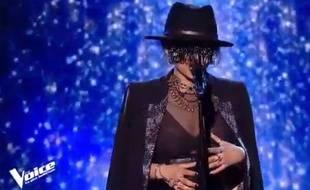 La candidate Monstre dans les épreuves à l'aveugle de «The Voice» sur TF1.
