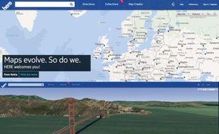 Here, le service de cartographie de Nokia dévoilé le 13 novembre 2012.