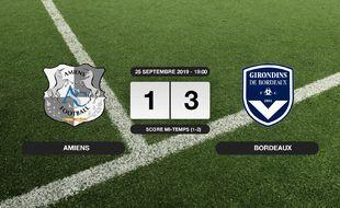 Ligue 1, 7ème journée: Bordeaux s'impose au stade de la Licorne 1-3 contre Amiens