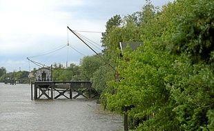 Un carrelet, en bord de Garonne
