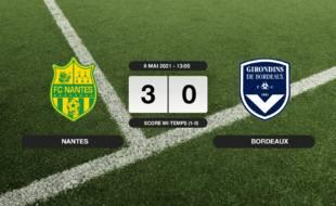 FC Nantes - Bordeaux: Le FC Nantes vainqueur de Bordeaux 3 à 0 à La Beaujoire
