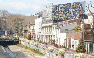 Les quais du Verdanson, à Montpellier.