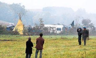 A Sivens, en 2014, lors d'une évacuation de la ZAD par les gendarmes.