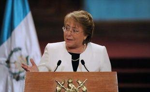 La présidente chilienne Michelle Bachelet à Guatemala le 30 janvier 2015