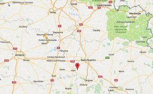 La commune de Dury, dans l'Aisne.