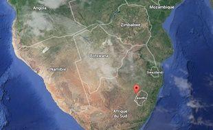 Les empreintes ont été découvertes dans l'ouest du Lesotho.