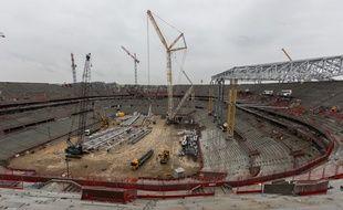 Le chantier du Grand Stade de l'Olympique lyonnais avance à grand pas.