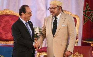 Le président François Hollande et le roi du Maroc Mohammed VI le 20 septembre 2015 à Tanger