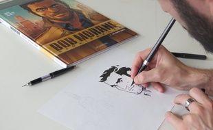 Dimitri Armand est le dessinateur des nouvelles aventures de Bob Morane