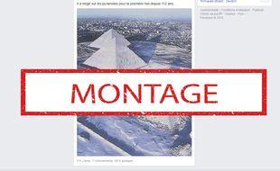 Cette photo des pyramides d'Egypte est un montage.