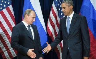Barack Obama et Vladimir Poutine se sont rencontrés au Nations Unies lundi 28 septembre 2015.