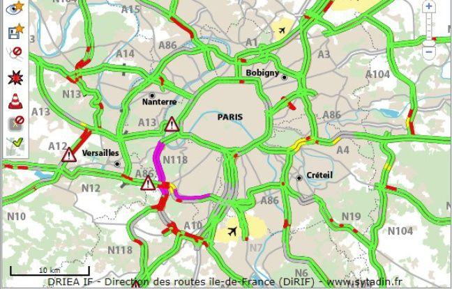 Le trafic en Ile-de-France mercredi matin