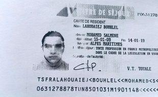 Copie du permis de séjour de Mohamed Lahouaiej-Bouhlel, obtenue le 15 juillet 2015 auprès de la police française - - Police française