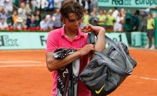 Rafael Nadal, le 31 mai 2009 après sa défaite à Roland-Garros face à Robin Soderling.