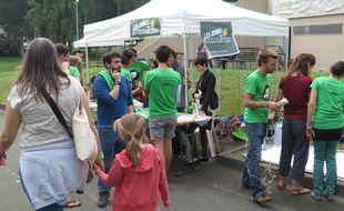 L'université de Lille-3 à Villeneuve d'Ascq s'habille de vert pendant trois jours.