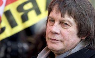 Bernard Thibault lors de la manifestation contre l'austérité le 18 février 2015 à Paris