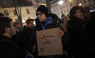 Manifestation en soutien à Théo et contre les violences policières à Paris, le 8 février 2017.