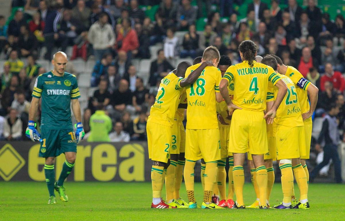 NANTES, le 25/10/2013 Les joueurs du FCN  lors du match FC Nantes contre Lille – FABRICE ELSNER/20MINUTES