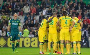 NANTES, le 25/10/2013 Les joueurs du FCN  lors du match FC Nantes contre Lille