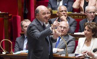 Pierre Moscovici, lors des questions au gourvernement à l'Assemblée Nationale, le 10 avril 2013.