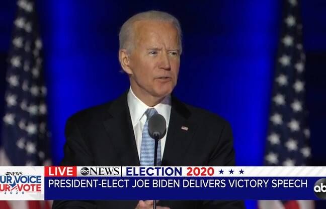 Joe Biden le 7 novembre 2020.