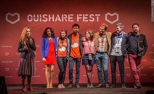 Le collectif OuiShare lors du OuiShare Fest 2015.