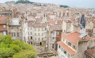 Deux immeubles se sont effondrés rue d'Aubagne à Marseille