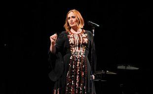 La chanteuse Adele en concert au festival de Glastonbury en 2016