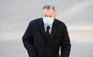 Jean-Noël Guérini à son arrivée au tribunal