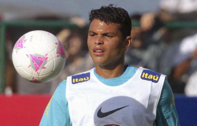 Le défenseur brésilien Thiago Silva, lors d'un entraînement à Rio avec sa sélection, le 11 juillet 2012.