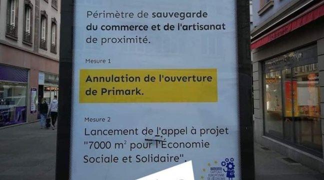 De fausses affiches annonce l'annulation du Primark de Strasbourg