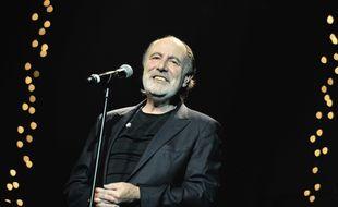 Michel Delpech lors d'un concert en 2012.
