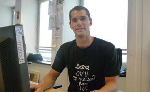 le perchiste Romain Mesnil à la redaction de 20minutes.fr le 31 mai 2010