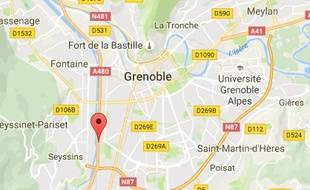 L'accident s'est produit sur l'A480 à Grenoble au niveau de la sortie de Seyssinet.