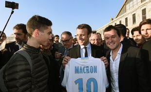 Emmanuel Macron, en novembre 2016 à Marseille.