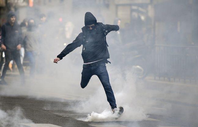 Présidentielle: 50.000 policiers et gendarmes mobilisés, notamment autour des «célébrations» dans actualitas dimanche 648x415_centaine-personnes-criant-ni-pen-ni-macron-participe-manifestation-sauvage-27-avril-soiree-paris