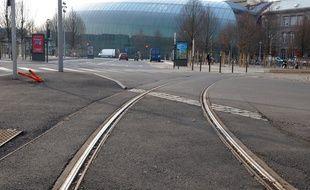 Le collectif Pour le tram à Koenigshoffen milite pour une extension de la ligne C de la gare jusqu'aux Poteries et un tram circulaire autour du centre-ville à Strasbourg. (Archives)