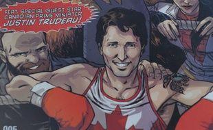 Justin Trudeau sur la couverture du comic Marvel «Civil War II : Choosing Sides».