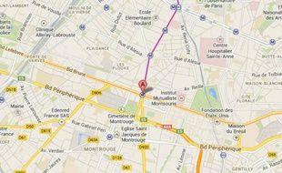 Porte d'Orléans/ Google map