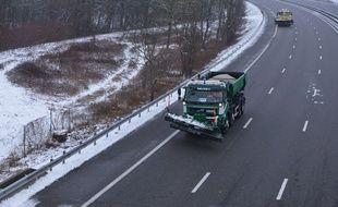 Lors du déneigement d'une autoroute dans les Alpes en janvier. (archives)
