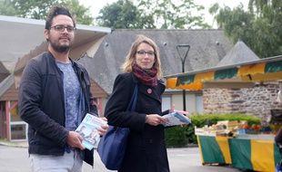 Enora Le Pape et Julien Guyader sont candidats pour la France Insoumise dans la 8e circonscription d'Ille-et-Vilaine.