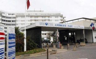 L'entré de l'hôpital Ambroise-Paré de Boulogne-Billancourt