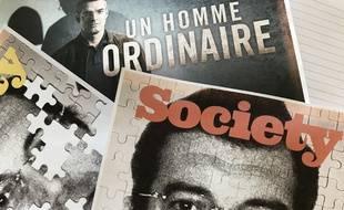 Unes de Society sur l'affaire Xavier Dupont de Ligonnès et visuel promo de la série Un homme ordinaire.