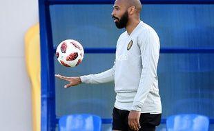 Thierry Henry, ici lors d'un entraînement avec la Belgique dimanche.